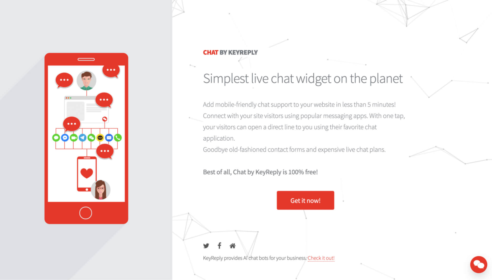 Chat by KeyReply 原本網頁還存在,現已消失-IrvingLab 爾文實驗室