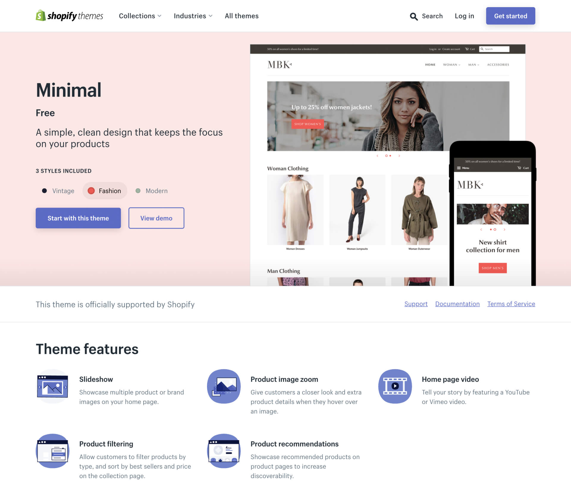 Minimal — A simple, clean design that keeps the focus on your products — Shopify Theme-IrvingLab 爾文實驗室