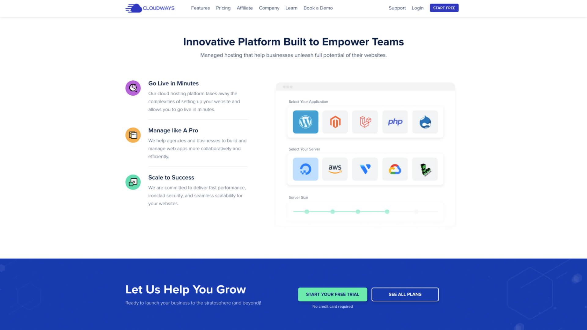Cloudways 可以任意選擇安裝的知名主機和應用程式快速建立網站-IrvingLab 爾文實驗室